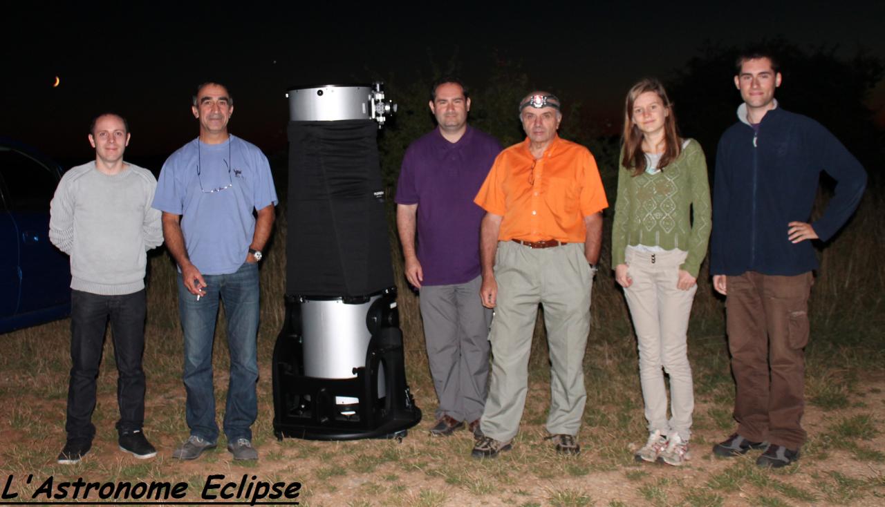 Photo-souvenir du groupe d'astronomes...