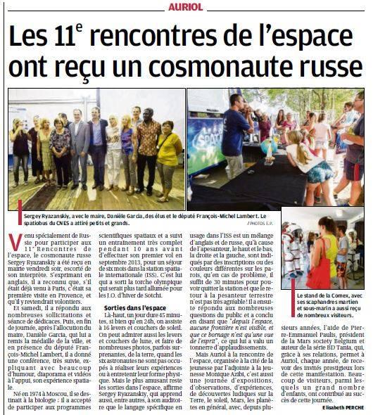 Article dans la presse locale