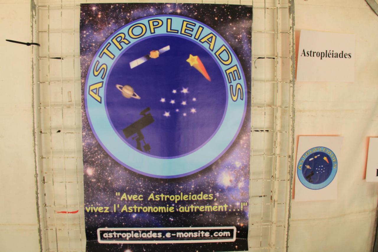 Affiche du site Astropleiades