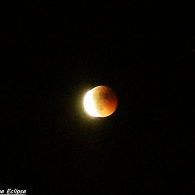 L'éclipse à la fin de sa totalité...