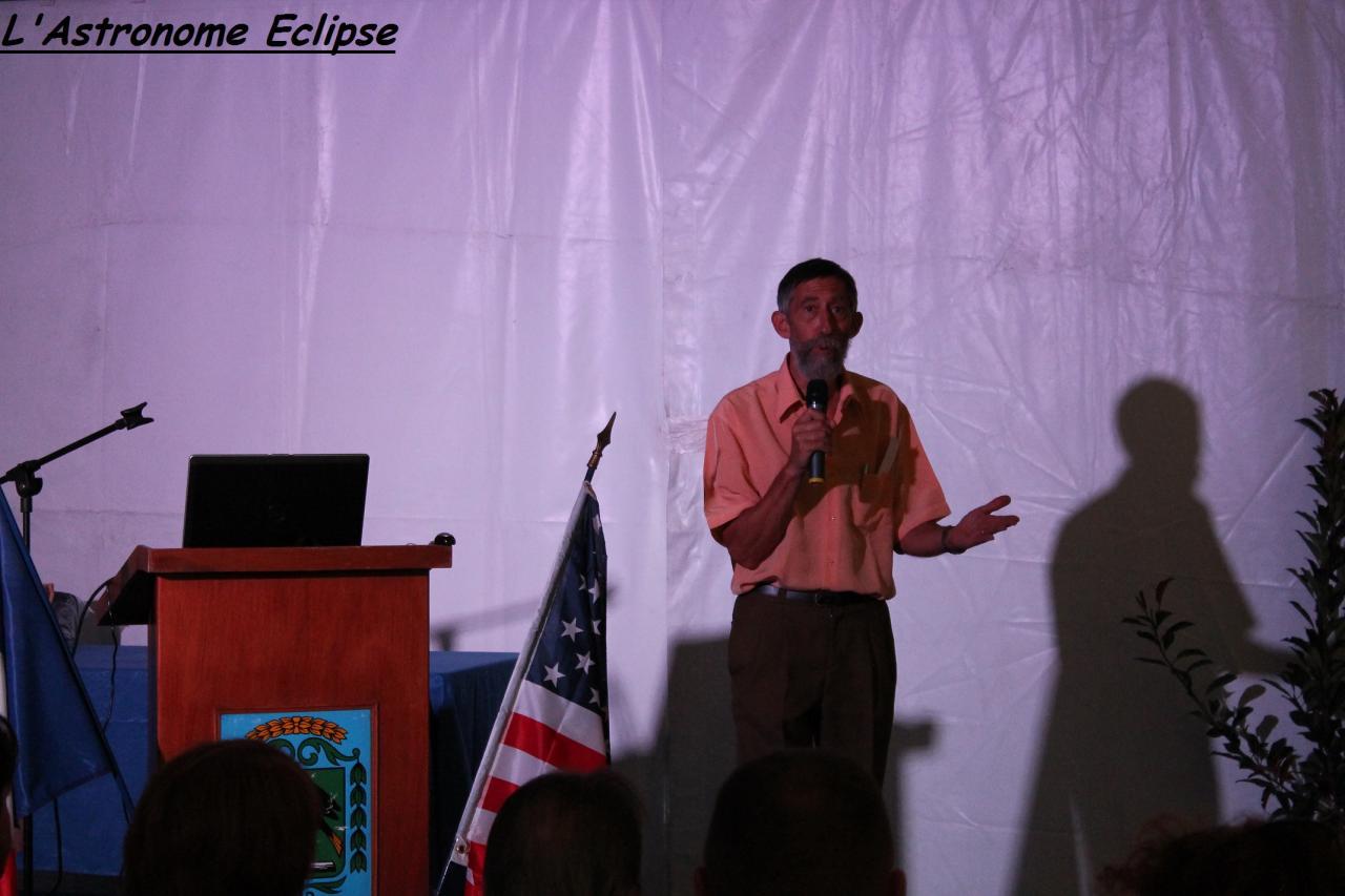Michel Marcelin pendant sa conférence...