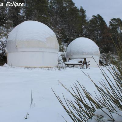 La Provence des étoiles sous la neige