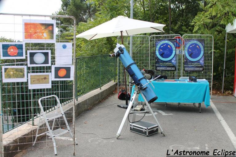 Vue d'ensemble du stand Astropleiades