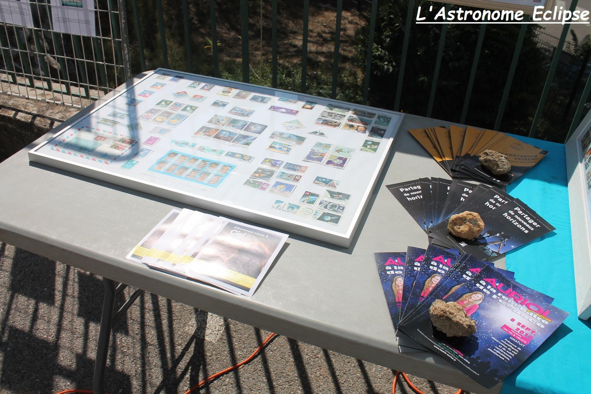 L'exposition de timbres