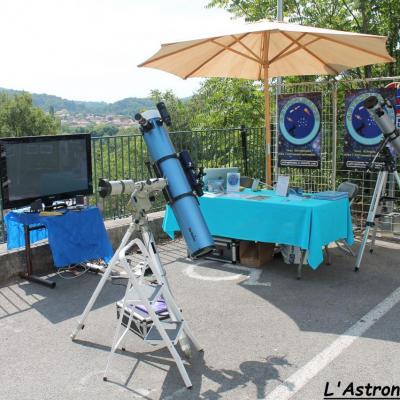 Le stand Astropleiades & le télescope solaire