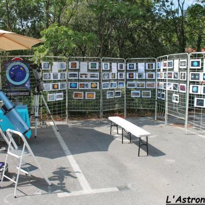 Le stand Astropleiades & l'exposition