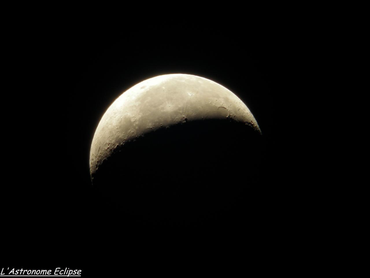 Croissant lunaire (18 Janvier 2012)