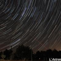 Filé d'étoiles sur l'horizon EST (10 Août 2018)