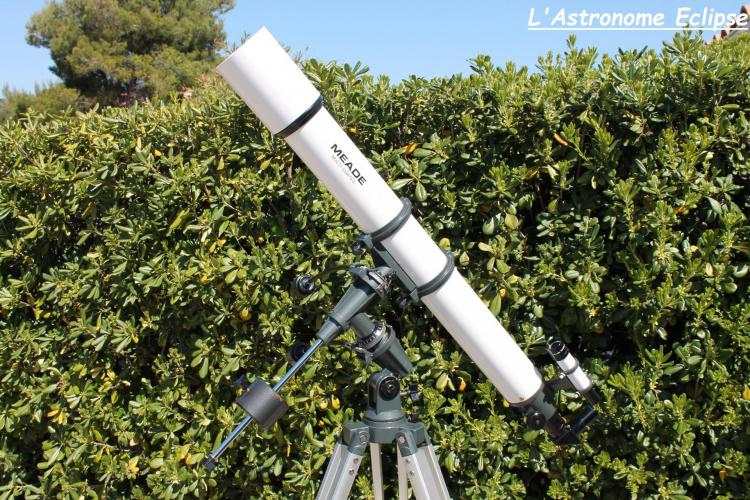 Lunette Meade 90/1000 (image L'Astronome Eclipse)