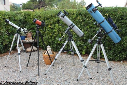 Quelques-uns de mes instruments... (image L'Astronome Eclipse)