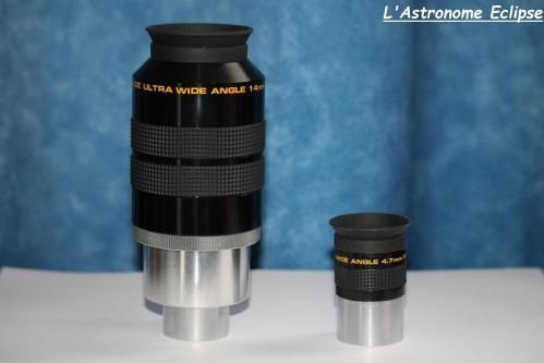 Oculaires Meade UWA série 4000 (image L'Astronome Eclipse)
