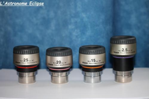 Oculaires Vixen NLV (image L'Astronome Eclipse)