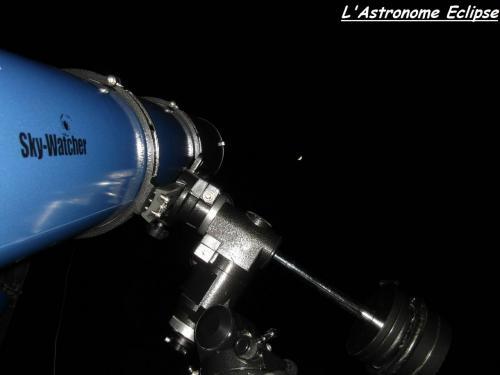 L'œil de l'astronome face à la Lune... (image L'Astronome Eclipse)